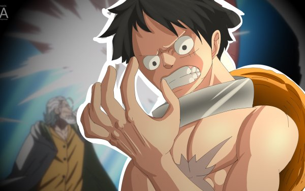 Anime One Piece Rayleigh Silvers Monkey D. Luffy HD Wallpaper   Background Image