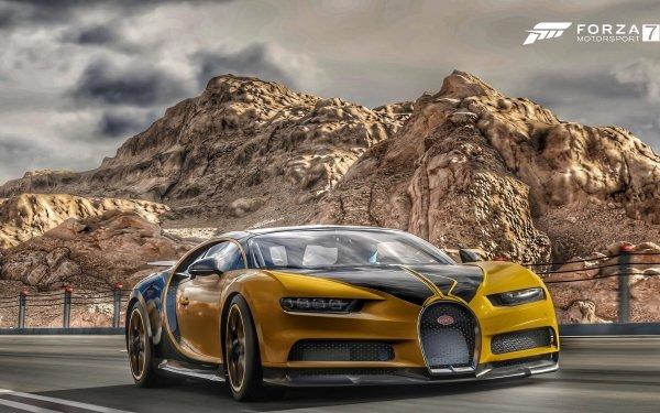 Video Game Forza Motorsport 7 Forza Bugatti Chiron HD Wallpaper   Background Image