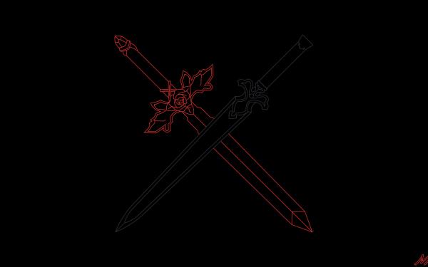 Anime Sword Art Online: Alicization Sword Art Online Red Rose Sword Night Sky Sword HD Wallpaper | Background Image