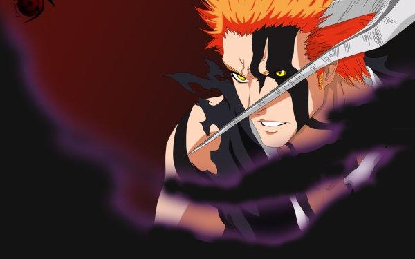 Anime Bleach Ichigo Kurosaki Orange Hair Hollow Yellow Eyes Horns HD Wallpaper | Background Image