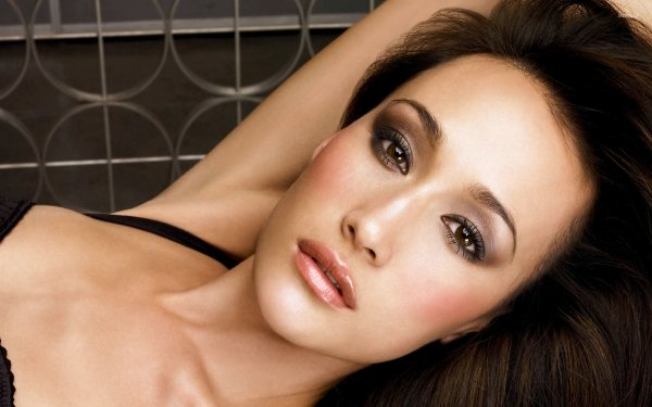 Celebrity Maggie Q Actresses United States Actress Face Makeup Brunette HD Wallpaper | Background Image