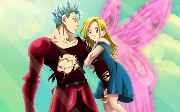 Anime The Seven Deadly Sins Ban Elaine Blonde Wings HD Wallpaper   Background Image