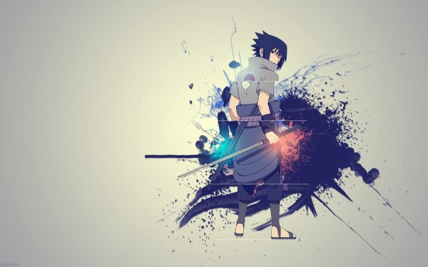 Anime Naruto Sasuke Uchiha Sword Uchiha Clan Black Hair HD Wallpaper   Background Image