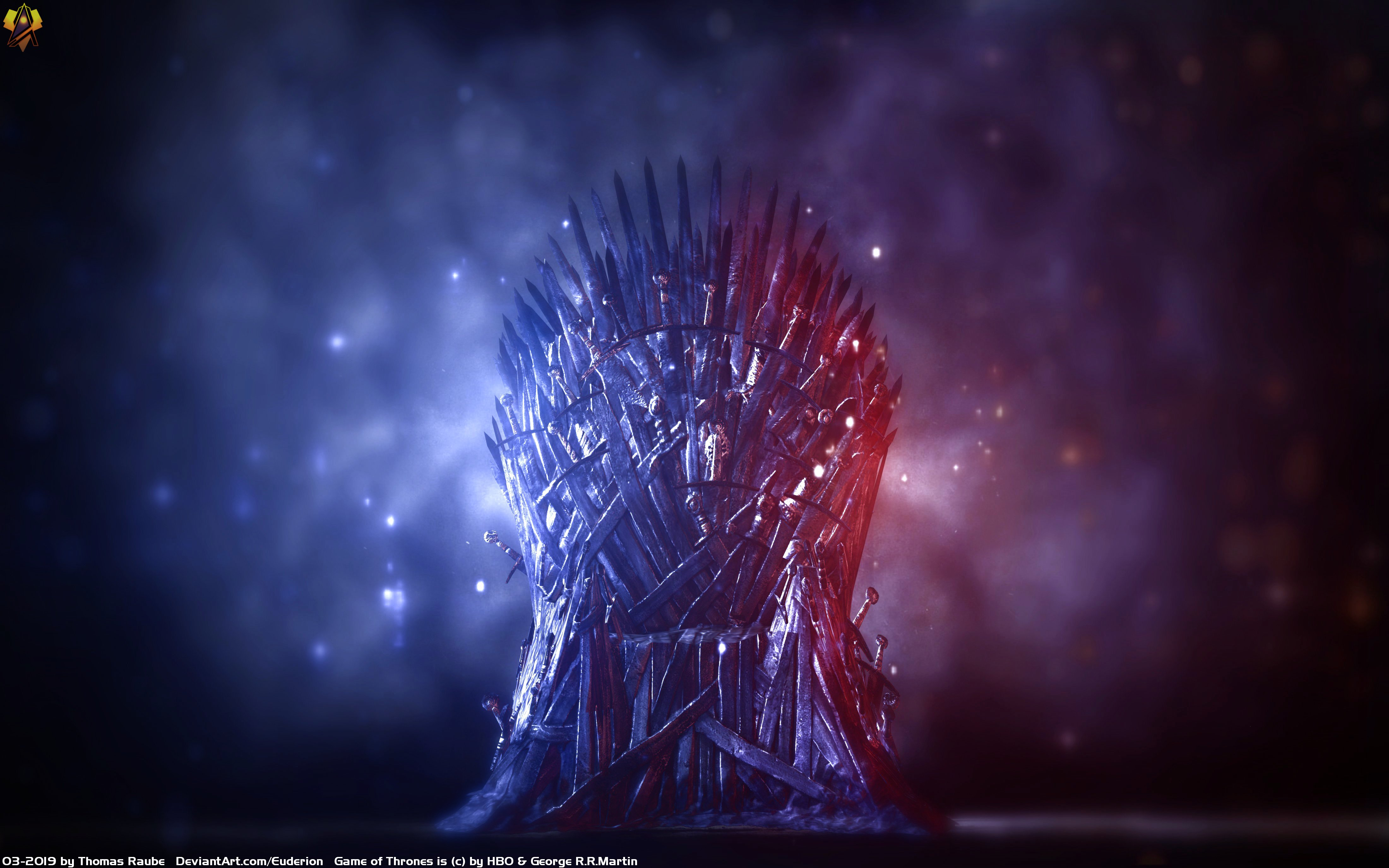 Iron Thrones Ice And Fire 4k Ultra Hd Wallpaper Background