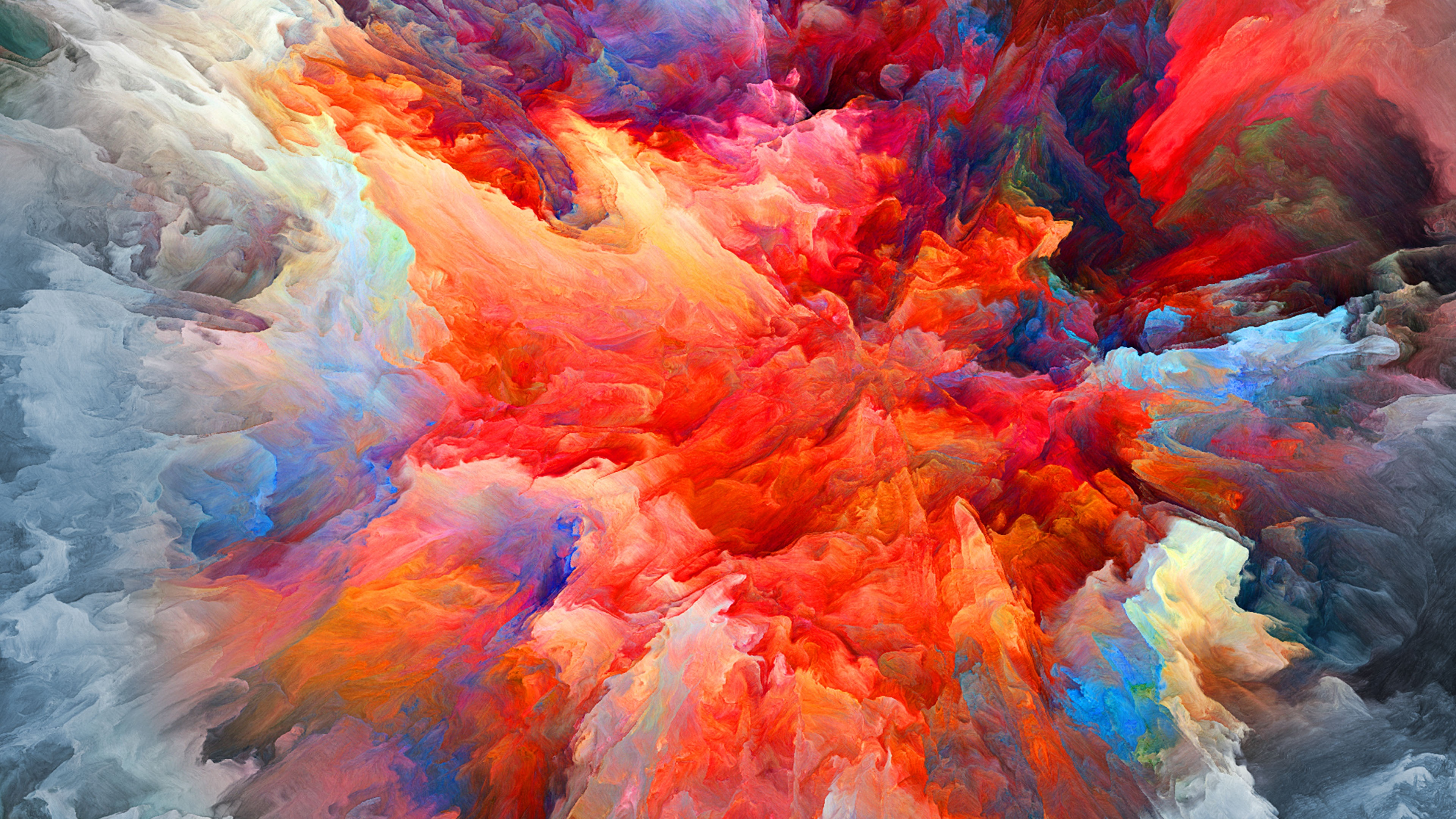 Colorful Blast Of Smoke 4k Ultra Hd Wallpaper Hintergrund