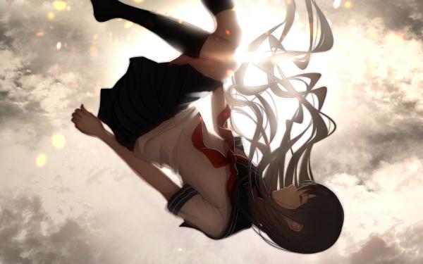 Anime Original Sunshine Black Hair School Uniform HD Wallpaper   Background Image