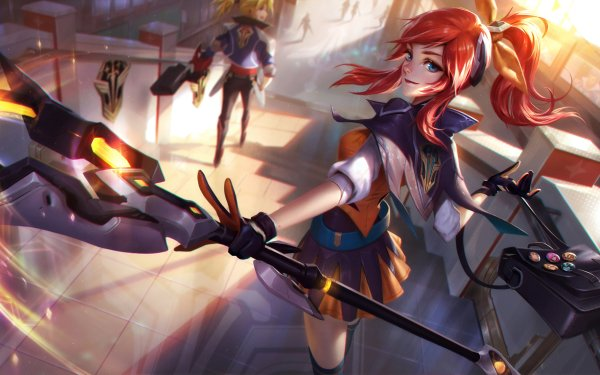 Video Game League Of Legends Lux Blue Eyes Red Hair HD Wallpaper | Background Image