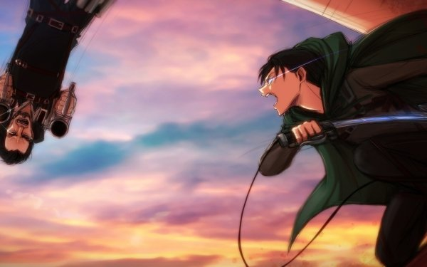 Anime Attack On Titan Levi Ackerman Kenny Ackerman HD Wallpaper | Background Image