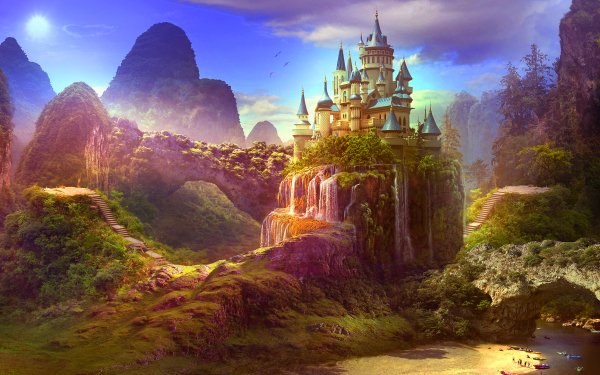 Fantasy Castle Castles HD Wallpaper   Background Image