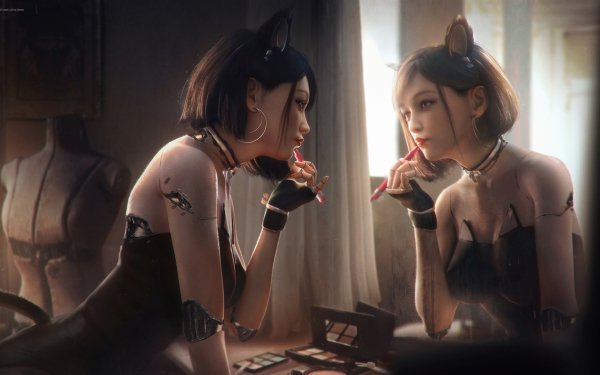 Anime Original Mirror HD Wallpaper | Background Image