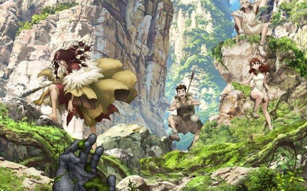 Anime Dr. Stone Senku Ishigami Taiju Oki Yuzuriha Ogawa Tsukasa Shishio HD Wallpaper | Background Image