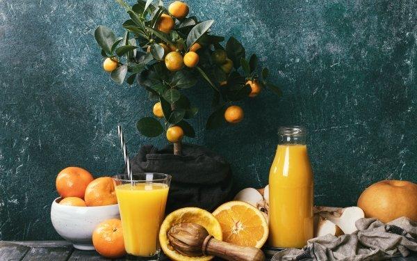 Food Juice orange Drink Still Life Mandarin HD Wallpaper | Background Image