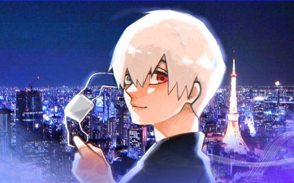 Anime Tokyo Ghoul:re Ken Kaneki Night City HD Wallpaper | Background Image