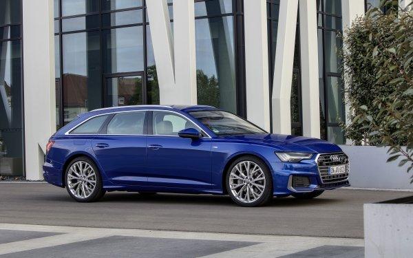 Vehicles Audi A6 Avant Audi Car Luxury Car Blue Car HD Wallpaper | Background Image