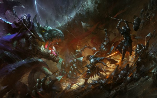 Fantasy Battle Dragon HD Wallpaper | Background Image