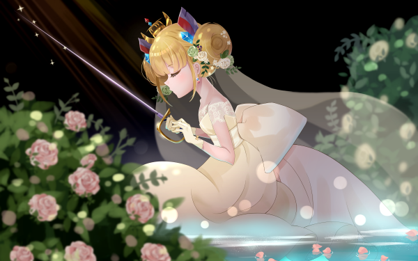 Anime Azur Lane Blonde Rapier Le Triomphant Flower Free French Naval Forces HD Wallpaper | Background Image