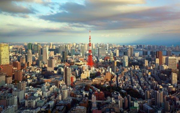Man Made Tokyo Cities Japan City Building Skyscraper Tokyo Tower HD Wallpaper | Background Image
