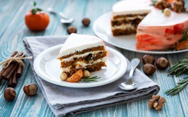 Food Cake Dessert Cinnamon Still Life Hazelnut HD Wallpaper | Background Image