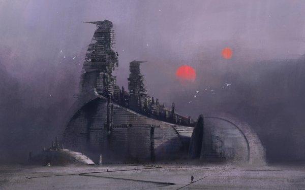 Sci Fi City HD Wallpaper   Background Image