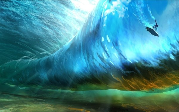 Artistic Wave Surfer HD Wallpaper | Background Image