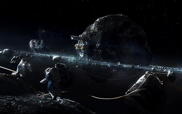Sci Fi Asteroid  Space Astronaut HD Wallpaper | Background Image