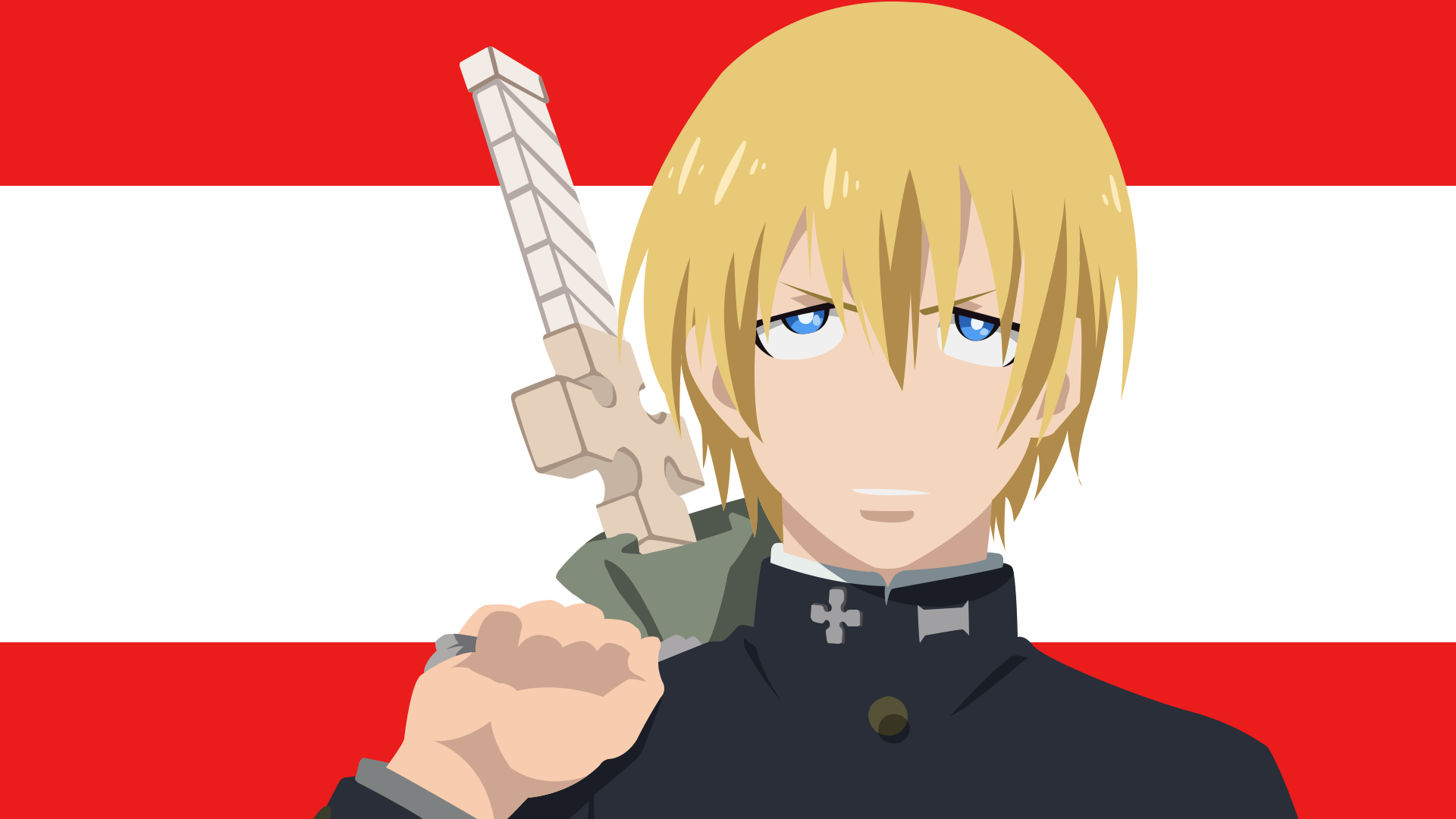 Arthur Boyle From Fire Force Minimalist Wallpaper For