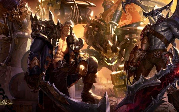 Video Game League Of Legends Malphite Garen Aatrox Quinn HD Wallpaper | Background Image
