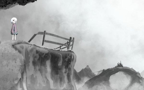 Anime Original Monochrome HD Wallpaper   Background Image