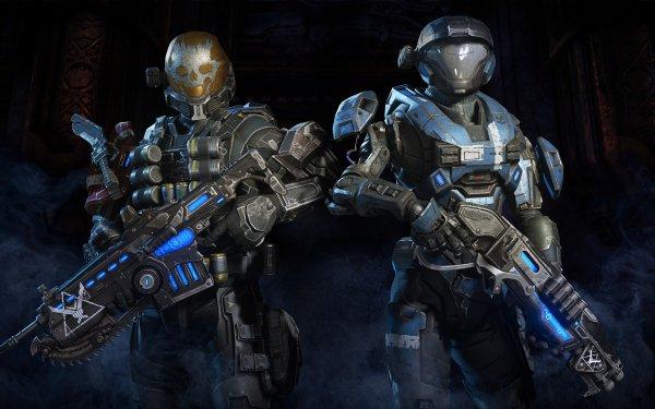 Jeux Vidéo Crossover Gears of War Gears 5 Halo Halo: Reach Fond d'écran HD | Image