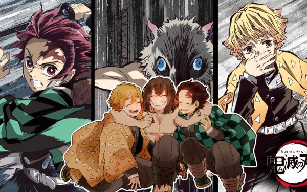 Anime Demon Slayer: Kimetsu no Yaiba Tanjiro Kamado Zenitsu Agatsuma Inosuke Hashibira HD Wallpaper | Background Image