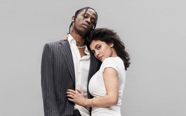 Music Travis Scott Singers United States Kylie Jenner Rapper Model American HD Wallpaper | Background Image