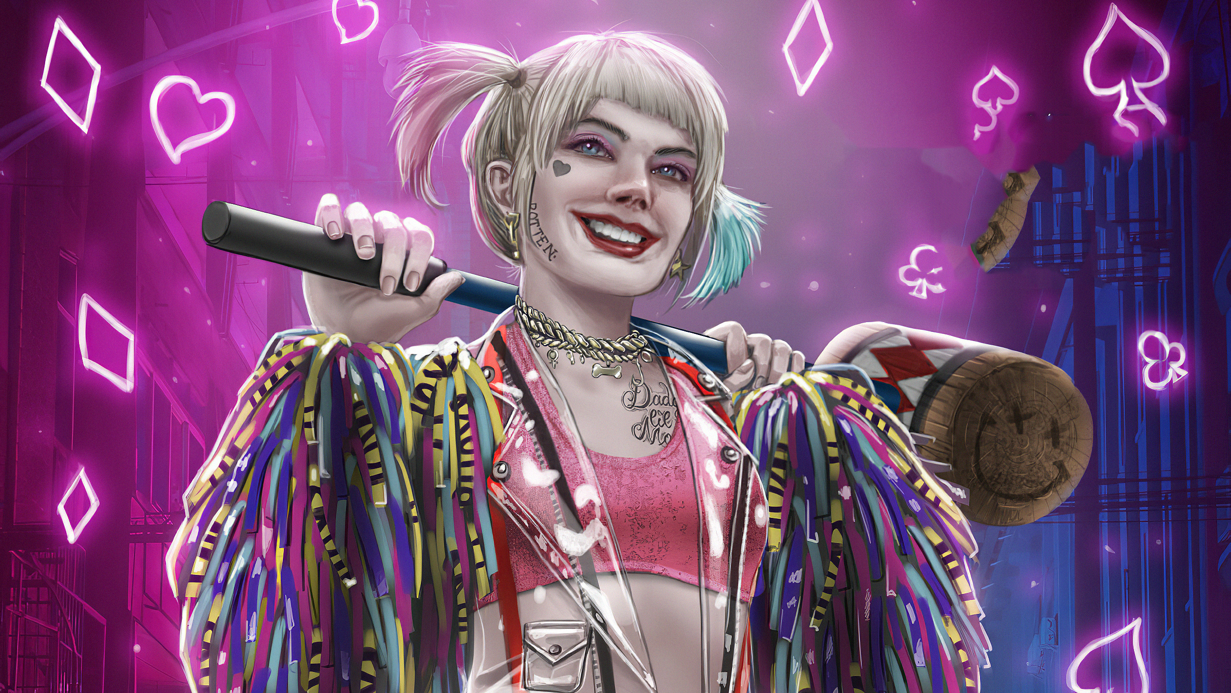 Harley Quinn Hd Wallpaper Background Image 2398x1349 Id 1056293 Wallpaper Abyss