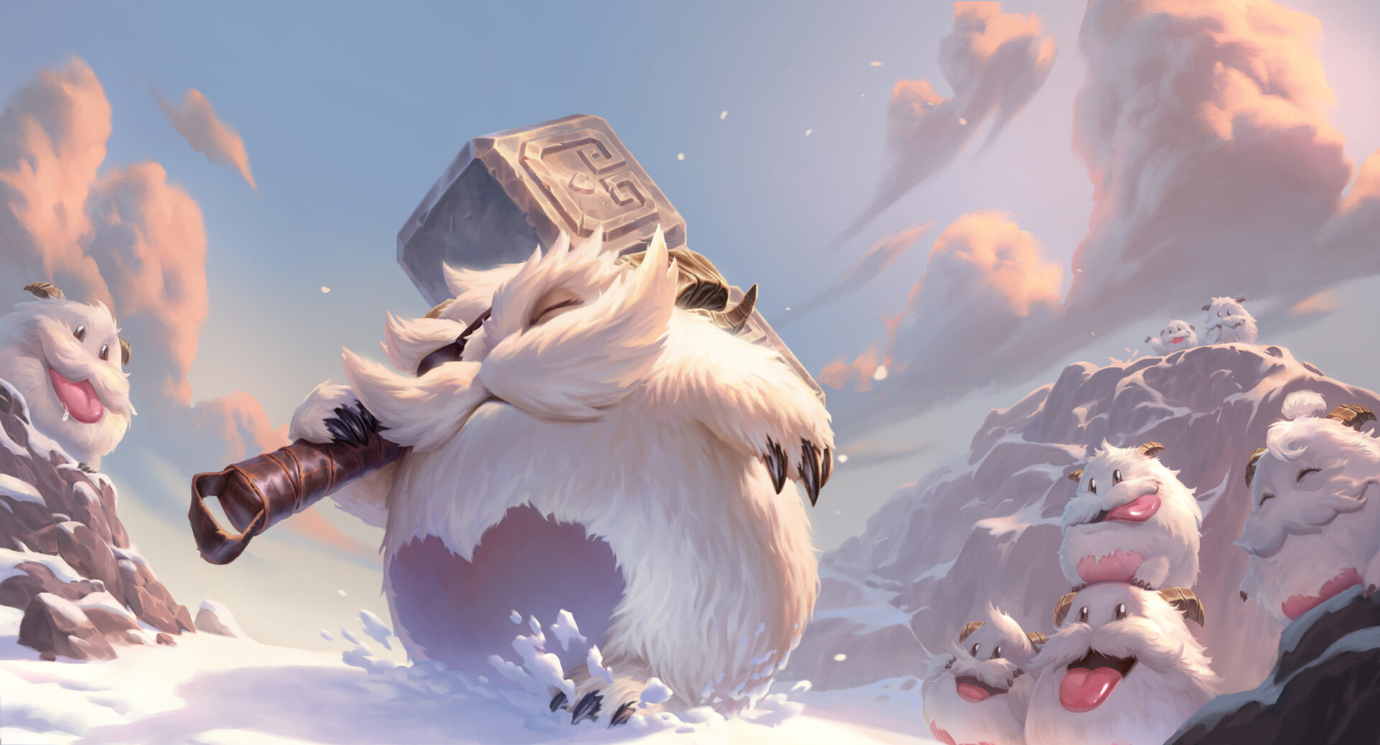 Mighty Poro Hd Wallpaper Background Image 2000x1080 Id