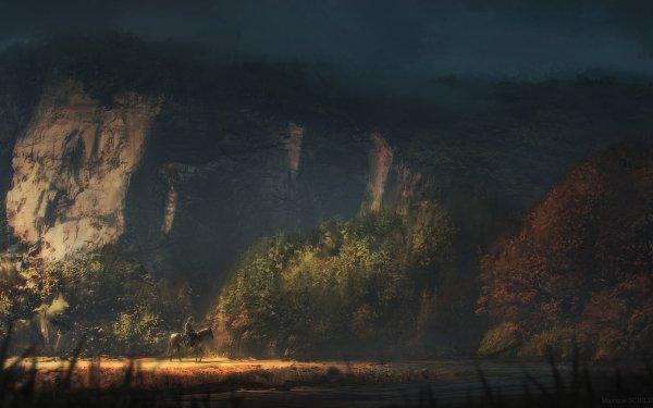 Fantasy Landscape Cowboy HD Wallpaper | Background Image