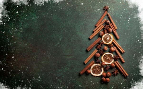 Holiday Christmas Christmas Tree Cinnamon Hazelnut HD Wallpaper | Background Image
