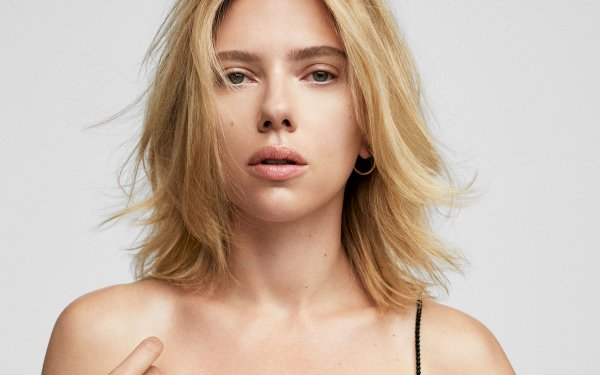 Celebrity Scarlett Johansson Actresses United States American Actress Short Hair Blonde HD Wallpaper   Background Image