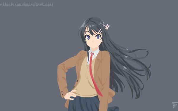 Anime Rascal Does Not Dream of Bunny Girl Senpai Mai Sakurajima HD Wallpaper | Background Image