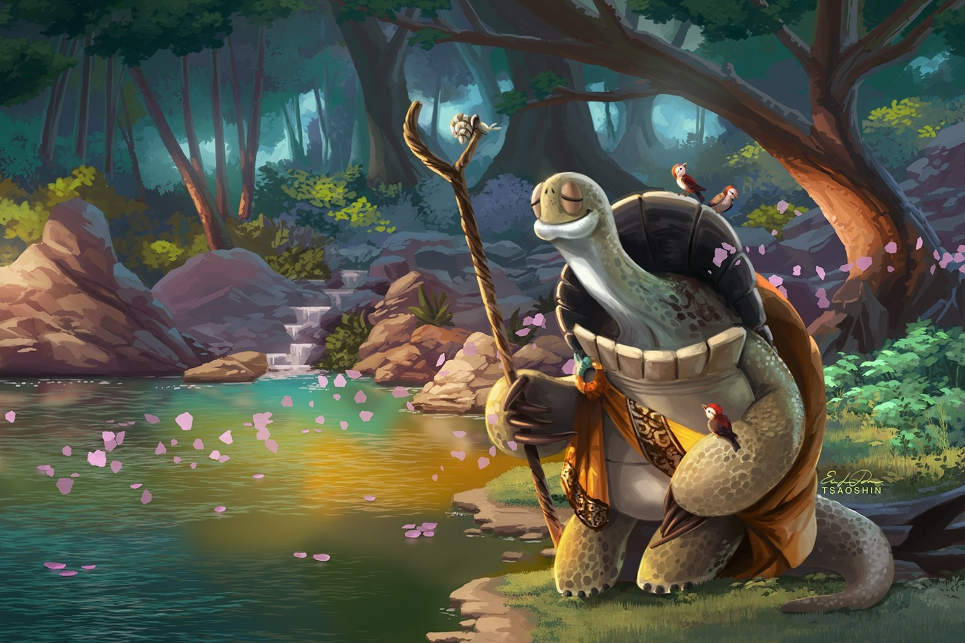 1 Oogway Kung Fu Panda Hd Wallpapers Background Images Wallpaper Abyss