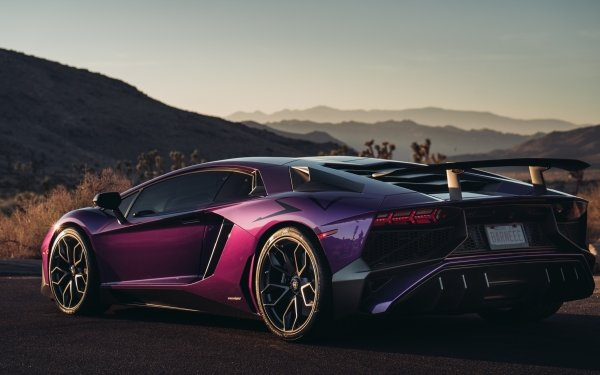 Véhicules Lamborghini Aventador SV Lamborghini Purple Car Voiture Supercar Fond d'écran HD | Image