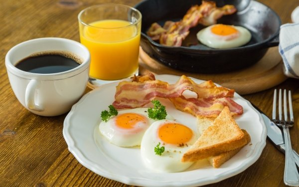 Food Breakfast Bacon Egg Coffee Cup Still Life Juice HD Wallpaper   Background Image