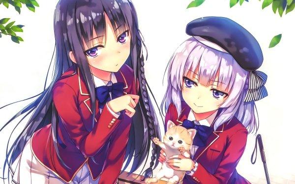 Anime Classroom of the Elite Alice Sakayanagi Cat Suzune Horikita HD Wallpaper | Background Image