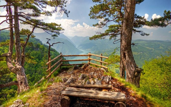 Photography Landscape Mountain Serbia Fence HD Wallpaper | Background Image