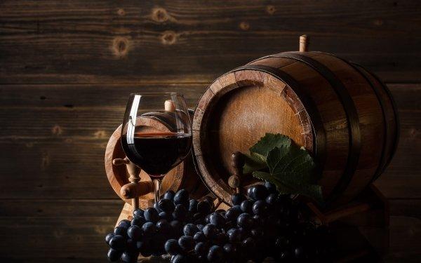 Food Wine Grapes Fruit Barrel Still Life HD Wallpaper | Background Image