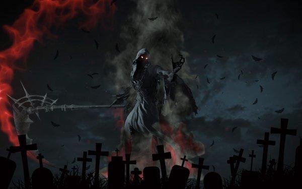 Dark Grim Reaper Cemetery Scythe HD Wallpaper | Background Image