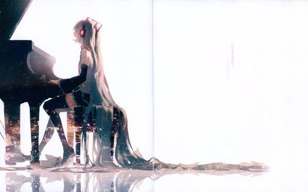 Anime Vocaloid Hatsune Miku Piano HD Wallpaper   Background Image