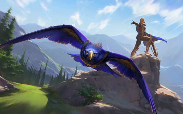 Video Game Legends of Runeterra Quinn Valor HD Wallpaper | Background Image