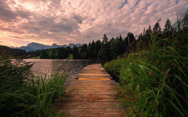 Photography Lake Lakes Boardwalk HD Wallpaper | Background Image