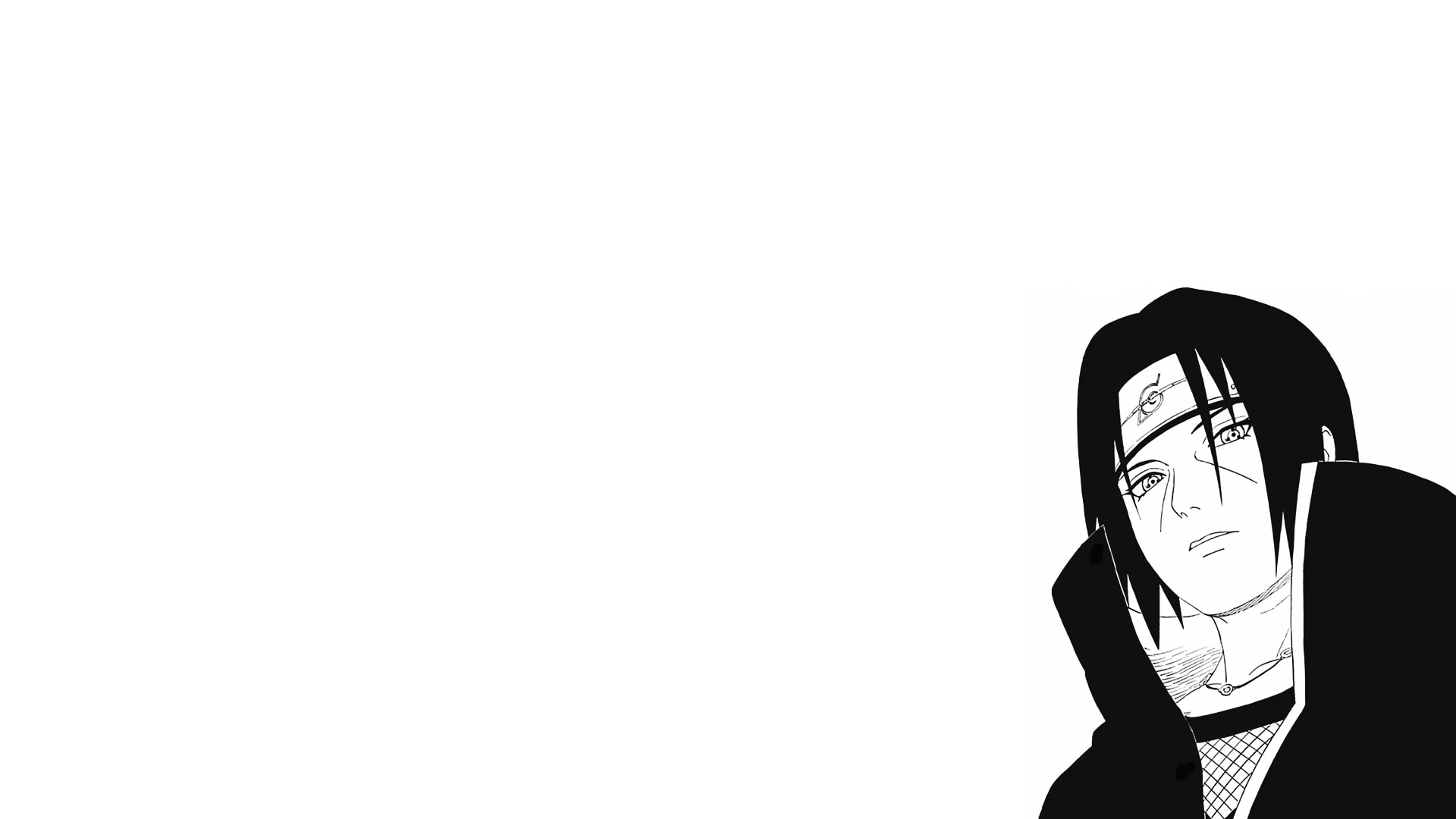 Itachi Black And White Hd Wallpaper Background Image 1920x1080 Id 1093657 Wallpaper Abyss