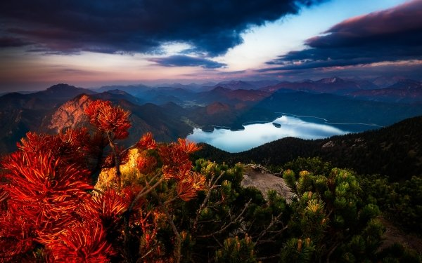 Earth Landscape Germany Bavaria Alps Cloud HD Wallpaper | Background Image