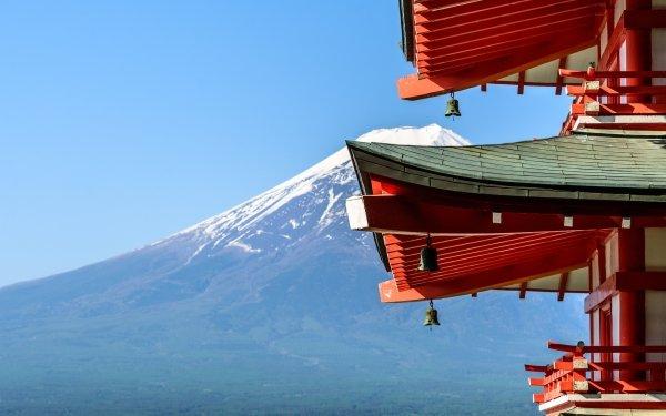 Earth Mount Fuji Volcanoes Japan Pagoda HD Wallpaper   Background Image
